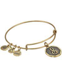 ALEX AND ANI - Initial S Charm Bangle (rafaelian Gold Finish) Bracelet - Lyst