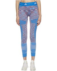 adidas By Stella McCartney - Yoga Seamless Tights Space Dye Cf4128 (white/dark Callisto/blue) Women's Casual Pants - Lyst