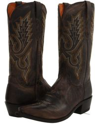 Lucchese - M1001 (anthracite Madras Goat) Cowboy Boots - Lyst
