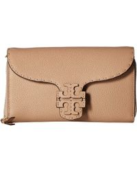 d7bbeb32fd3 Tory Burch - Mcgraw Flat Wallet Crossbody (silver Maple) Cross Body  Handbags - Lyst