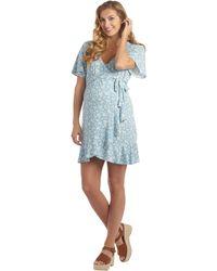 Everly Grey Kristi Maternity/nursing Dress - Orange