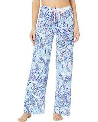 Lilly Pulitzer - Pj Knit Pants (coastal Blue Whispurr) Women's Pajama - Lyst