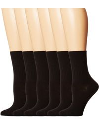 Hue - Turncuff 6-pack (black) Women's No Show Socks Shoes - Lyst