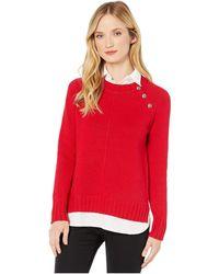 Lauren by Ralph Lauren Layered Cotton-blend Sweater