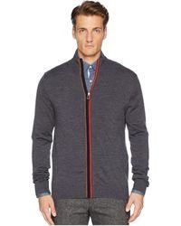 Paul Smith - Zip Funnel Neck Cardigan (orange Stripe) Men's Sweatshirt - Lyst