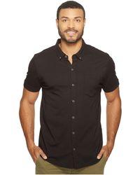 Mod-o-doc - Humboldt Short Sleeve Button Front Shirt (black) Men's Short Sleeve Button Up - Lyst