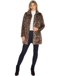 Dylan By True Grit | Wild Side Vintage Leopard Faux-fur Coat With Heather Knit Lining And Pockets | Lyst
