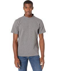 Native Youth Adrian High Neck Short Sleeve T-shirt Clothing - Gray