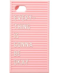 Ban.do Silicone Letter Board Iphone 7/8 Case - Pink