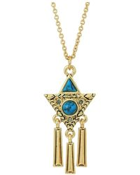 House of Harlow 1960 - Durango Triangle Necklace (gold/turquoise) Necklace - Lyst