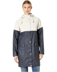Ilse Jacobsen - Two-tone Slicker (dark Indigo/cream) Women's Coat - Lyst