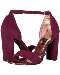 Ted Baker - Phanda (burgundy) Women's Shoes - Lyst