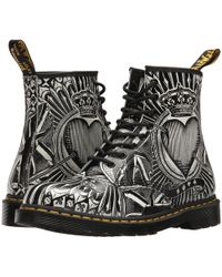Dr. Martens - 1460 (black Greasy) Lace-up Boots - Lyst
