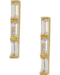 Cole Haan - Stone Bar Earrings (gold/clear Cubic Zirconia) Earring - Lyst