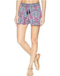Tommy Bahama - Riviera Tile Pullon Shorts Cover-up (cerise) Women's Swimwear - Lyst