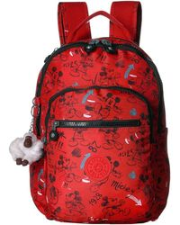 Kipling Disney Mickey Mouse Seoul S Backpack - Red