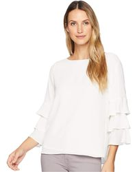 Calvin Klein - 3 Tier Sleeve Textured Blouse - Lyst