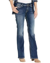 Silver Jeans Co. Suki High-rise Curvy Fit Bootcut Jeans L9516sjb376 - Blue