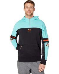 3c633d5001 PUMA Luxtg Hooded Sweatshirt in Gray for Men - Lyst