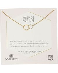 Dogeared Friends For Life, Two Mixed Metal Linked Rings Necklace Necklace - Metallic