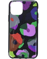 Kate Spade Glitter Floral Collage Phone Case For Iphone 11 Pro - Black