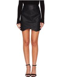 Jack BB Dakota - Angeline Vegan Leather Skirt (black) Women's Skirt - Lyst