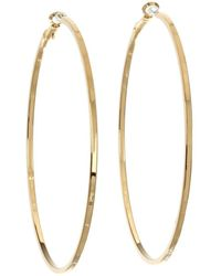 Guess - Square Edge Hoop - Lyst