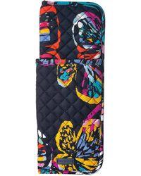 Vera Bradley Iconic Curling Flat Iron Cover (bordeaux Blooms) Wallet - Multicolor