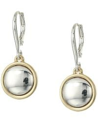 Lauren by Ralph Lauren - Leverback Drop Earrings (two-tone) Earring - Lyst