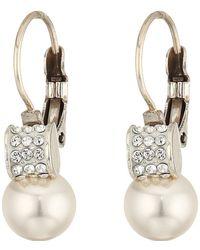 Brighton - Meridian Petite Pearl Leverback Earrings - Lyst