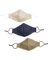 Madewell Three-pack Non-medical Face Masks - Blue