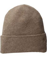 59003d169b6 Polo Ralph Lauren - Cashmere Felted Hat Cuff Hat (doe Heather) Beanies -  Lyst