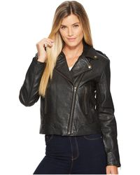 Scully - Cosette Concealed Carry Leather Moto Jacket (black) Women's Coat - Lyst