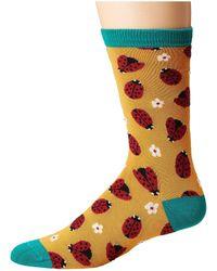 Socksmith - Ladybug (bright Yellow) Women's Crew Cut Socks Shoes - Lyst