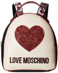 Love Moschino - Heart Design Backpack (black/ivory) Backpack Bags - Lyst