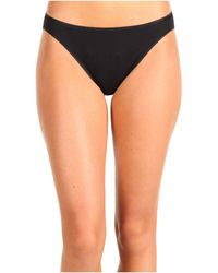 Hanro - Cotton Seamless Hi-cut Brief 1624 (black) Women's Underwear - Lyst
