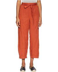 Eileen Fisher - Linen Lantern Ankle Pants (deep Pekoe) Women's Casual Pants - Lyst