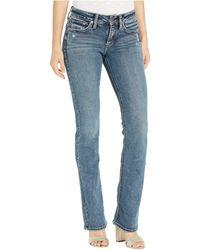 Silver Jeans Co. Suki Mid-rise Curvy Fit Slim Bootcut Jeans In Indigo L93606sdg366 - Blue