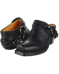 Frye - Belted Harness Mule (black Greasy Leather) Women's Boots - Lyst