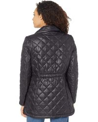 Sam Edelman Quilted Jacket With Detachable Hood - Black
