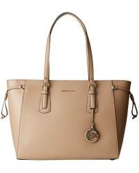 0f4491ed6cf7 MICHAEL Michael Kors - Voyager Medium Multifunction Top Zip Tote (truffle) Tote  Handbags -
