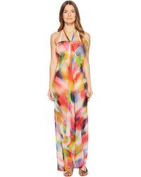 Fuzzi - Dress Cover-up Painterly Rainbow - Lyst