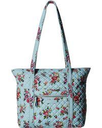Vera Bradley - Iconic Small Vera Tote (charcoal) Tote Handbags - Lyst