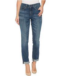 NYDJ - Girlfriend Jeans W/ Knee Slit In Crosshatch Denim In Newton (newton) Women's Jeans - Lyst
