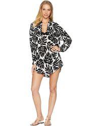 Mikoh Swimwear - Cannes V-neck Tunic Cover-up (foam) Women's Swimwear - Lyst