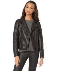 Cupcakes And Cashmere - Calgary Vegan Leather Moto Jacket (black) Women's Coat - Lyst