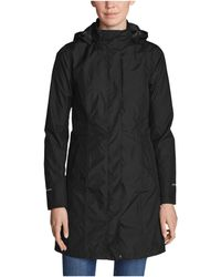 Eddie Bauer Girl On The Go(r) Trench Coat - Black