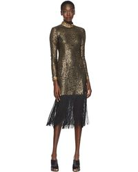 Rachel Zoe - Hunter Fringe Dress (black/gold) Women's Dress - Lyst