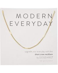 Dogeared - Modern Everyday, Short Crew Neck Necklace - Lyst
