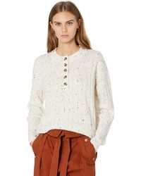 Madewell Donegal Cherry Ribbed Henley - White
